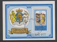 Grenada - 1977, Silver Jubilee sheet - F/U - SG MS862