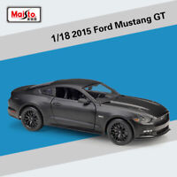 Maisto 1:18 2015 Ford Mustang GT Black Diecast Car Model Collection Unopened Box