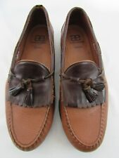Allen Edmonds Nashua Tassel Pebble Loafers Almond Brown Men's 15 D Retail $225
