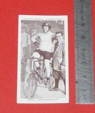 CHURCHMAN CIGARETTES CARD 1939 KINGS OF SPEED CYCLISME LEON VANDERSTUYFT