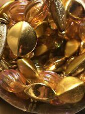 2 9' Iridescent Pink Gold Silver Bead Garland Christmas Tree Decoration Vintage