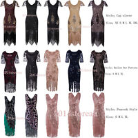 1920s Flapper Dress Great Gatsby Wedding Party  Prom Tassels Cocktail Dress 4-20