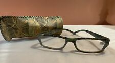 Camouflage Frame Reading Glasses Light Camo Readers Lens Strength 1.75 Plus case