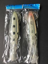 "2 NEW Big Game Squid Trolling Fishing Lure Bait 9"""