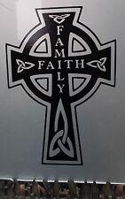 """""""famiglia FEDE"""" Croce Religione Adesivi/Auto/Furgone/Paraurti/Finestra/Adesivo 5114 BK grandi"""