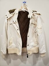 O'Neill Womens Arctic Eskimo Hooded Jacket Color Vanilla Size L