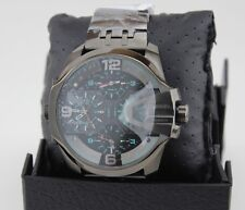 NEW AUTHENTIC DIESEL UBER CHIEF GUNMETAL GRAY BLACK CHRONOGRAPH MEN DZ7372 WATCH