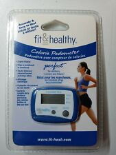 Fit & Healthy Pedometer with Clip Tracks Steps, Calories Burned, & Distance