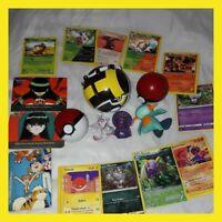 Pokemon card and toy figure pokeballs bundle joblot vintage