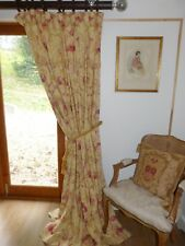 Laura Ashley Malmaison Curtains Linen Blend Shabby Chic Toile Ea 84 W 86 D