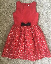 New Girls Red Gymboree Polka Dot Bow Dress Size 10