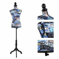 Female Mannequin Torso Clothing Display Black Tripod Stand New Retail Adjustable