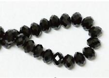 @2017 Hot 8 mm 70 pcs Faceted Rondelle Bicone Crystal Jewelry Beads black@