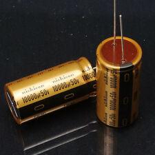 2PCS NICHICON MUSE FW 10000UF 50V Audio Electrolytic Capacitor 25X50mm #E211 YX