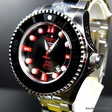 Invicta Grand Pro Diver Gen II Automatic Black Red Silver Steel 47mm Watch New