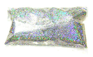 "2oz / 59ml Silver Jewels Holographic Metal Flake .015"" Rainbow Additive Flakes"