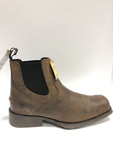 Ariat Men's Midtown Rambler, Pull-On Chelsea Boots-Brown Leather, Size 10.5M.