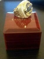 2018 Golden State Warriors NBA Championship Ring STEPH CURRY 18k GOLD PLATED USA