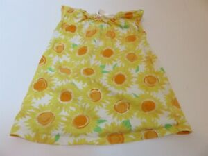 Hanna Andersson Girls Sunflower Floral Top Shirt 130 us 8 euc