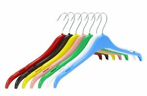 Pack of 10 Plastic Tops Hangers with Notches - 41cm