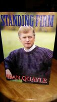 """Dan Quayle Signed/Autographed Book! """"Standing Firm!"""