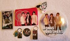 HUGE Jonas Brothers Bundle Wallet, Necklace, Button & MORE ~BRAND NEW w/ TAGS!~