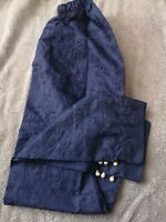 PAKISTANI /INDIAN ELASTICATED EMBROIDERED TROUSERS FANCY BUTTONS IN Royal Blue