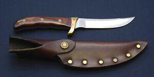 Buck 402 Akonua fixed knife  w/ leather sheath New in old stock
