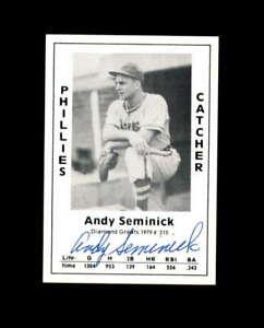 Andy Seminick Hand Signed 1979 Diamond Greats Philadelphia Phillies Autograph