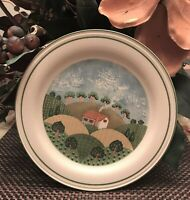 "Sangostone 3645 ""Country Cottage"" Salad, Desert Plates 7 1/2"" Set of 6"