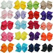 """6 """" 20pcs/lot Girls Large Double Layers Hairbow Baby Hair Bows Alligator Clips"""