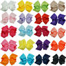 "6 "" 20pcs/lot Girls Large Double Layers Hairbow Baby Hair Bows Alligator Clips"