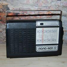 GJALA 407 Vintage Old Soviet Russian Transistor Radio USSR
