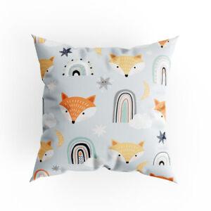 Cushion Cover 40 x 40 cm Unique Full Print Minimal Small Foxes Design EU Made