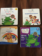 4 kids baby books BOARD BOOKS LOT baby einstein MIRROR colors ANIMALS learning