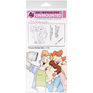Art Impressions Girlfriends Cling Rubber Stamps -Picture Perfect Set