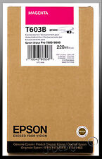 EPSON T603B Magenta Stylus Pro 7800/9800 220ml Ink - New Expired 11/2019