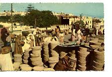People Buy Wares-Native Outdoor Market-Vender-Tanger-Africa-Vintage Postcard