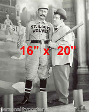 """Abbott & Costello~Who's on First~Baseball~Photo~Comedy Team~16"""" x 20"""" Photo"""