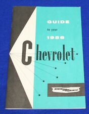 CHEVROLET 1958 Full Size Cars Owners Manual Reproduction.