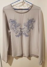 HOT OPTIONS SIZE 18 GREY LONG SLEEVE TOP