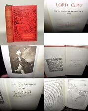Lord Clive - Sir A.J.Arbuthnot - Signed By Author, 1899, Mrs Story Maskelyne HB