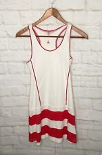 Kneissl Tennis Dress Vintage Size 36 XS Small White Red Portugal