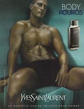 Publicité Advertising 2001  Parfum  YVES SAINT LAURENT BODY KOUROS