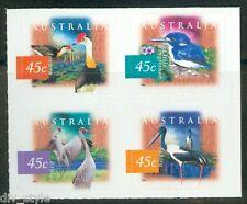 Wetland Birds set of 4 mint self-adh. stamps ex-booklet 1998 Australia #1536-9