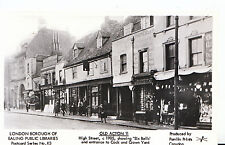 London Postcard - Old Acton 11 - High Street c1905 - Showing 'Six Bells'  U80