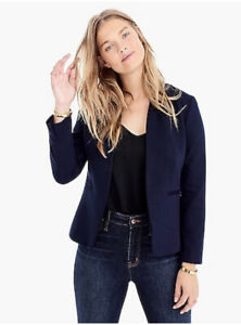J. CREW 365  H2743 NAVY BLUE GOING OUT BLAZER IN STRETCH TWILL JACKET SIZE 20