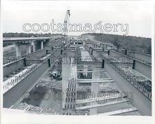 1979 Steel Beams Crane Bridge Construction I-185 Georgia Press Photo