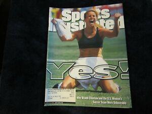 Sports Illustrated Brandi Chastain YES! U.S. Womens Soccer July 19 1999 TEAM USA