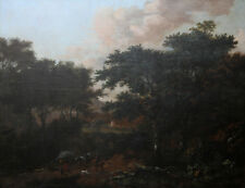 OLD MASTER DUTCH JAN WIJNANTS 1635-1684 LANDSCAPE HORSES OIL PAINTING ART HUGE